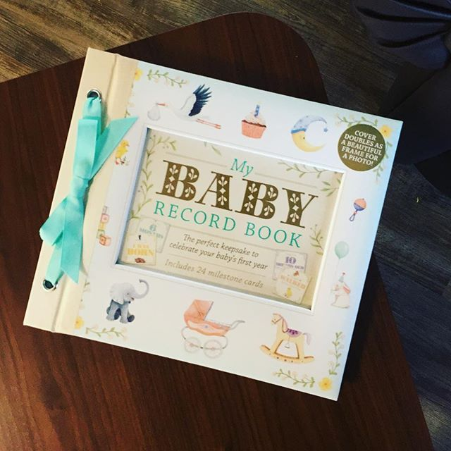 look at this adorable baby record book that arrived today #theworks #theworksstores #childrensbooks #babyrecordbook #babyrecord    #Regram via @theworksstores