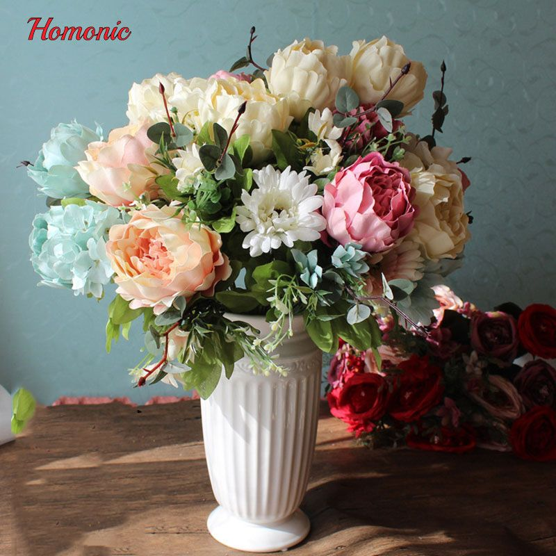 Cheap artificial peony, Buy Quality silk flowers directly from China ...