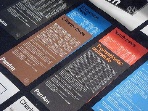 PanAm Brochure, Design Alan Fletcher