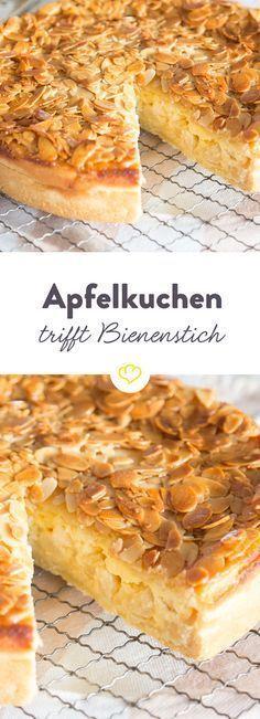 Doppelt lecker: Apfelkuchen trifft Bienenstich #applepie