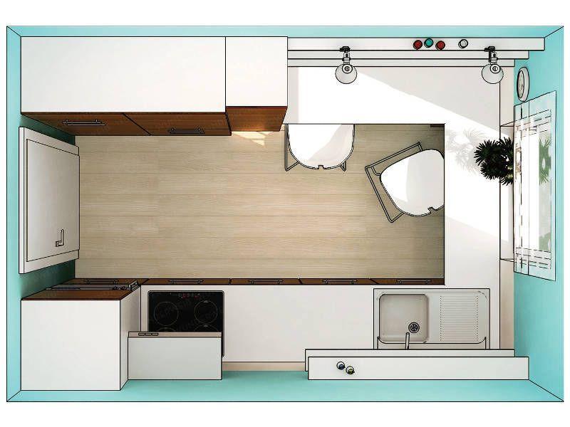 Komfort in einer kleinen Küche