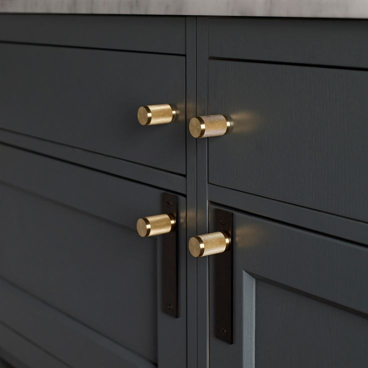 furniture handles. furniture handle / smoked bronze \u0026 brass - buster + punch furniture handles