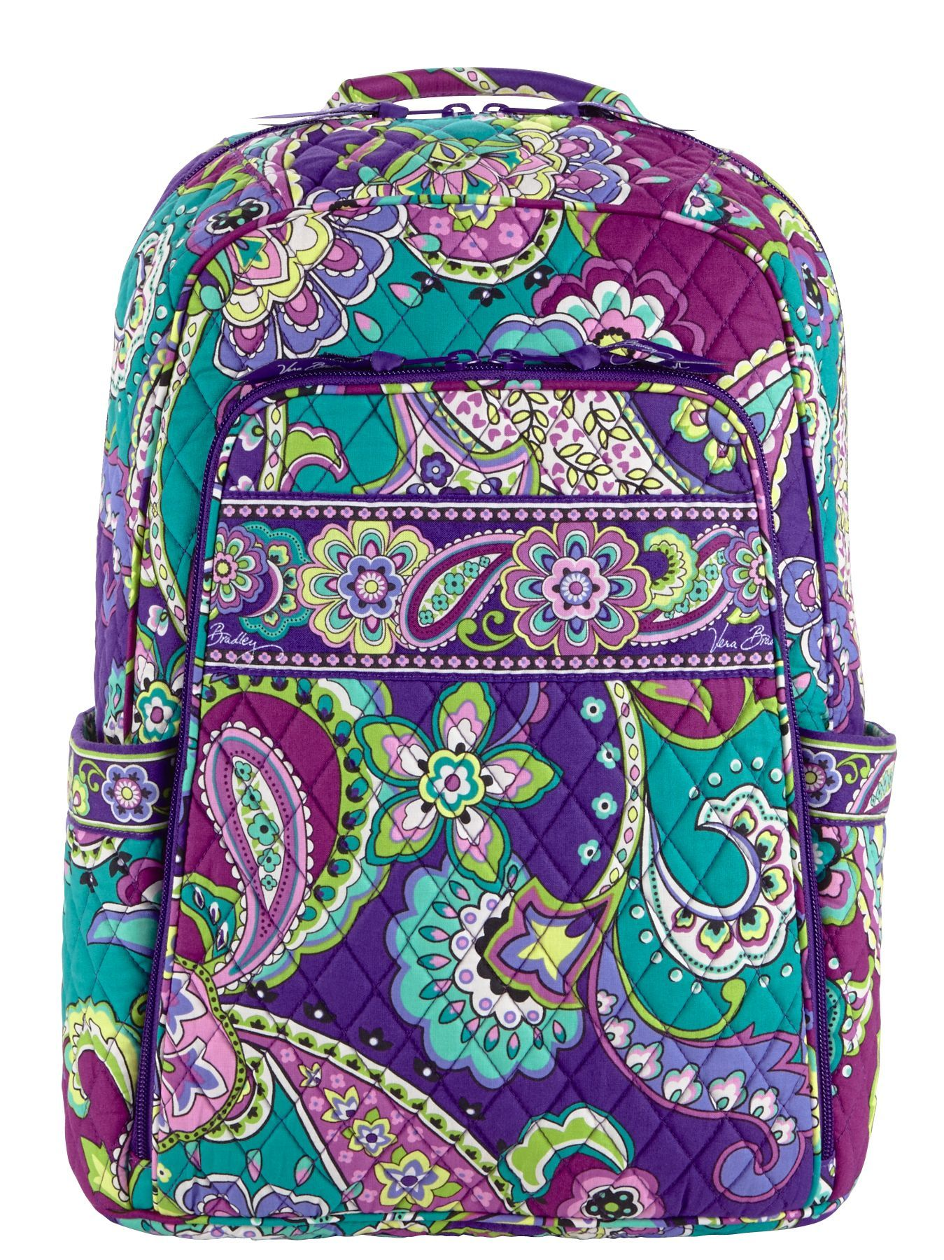 e49944d1645 Vera Bradley Laptop Backpack in Heather 55   Vera Bradley ...