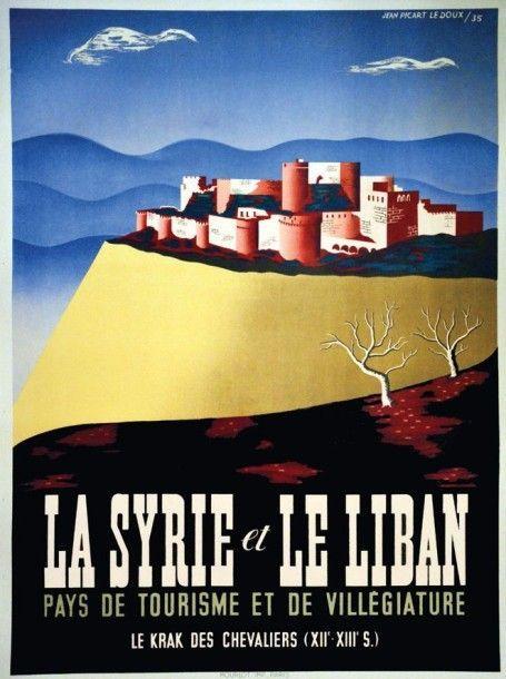 Vintage Syria and Lebanon Tourism A3 Poster Reprint