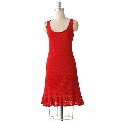 nice summer dress...ELLE Open-Work Tank Dress