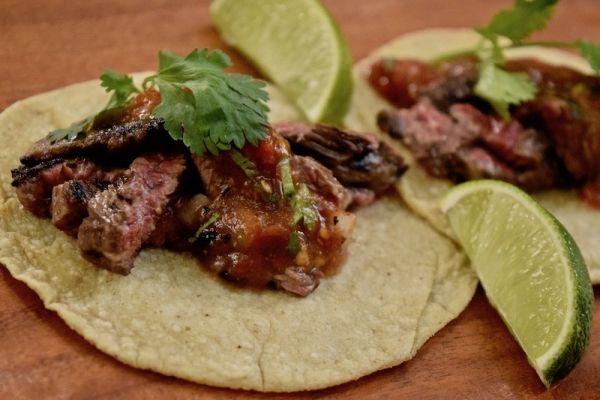Grilled Skirt Steak Tacos a Rick Bayless Recipe