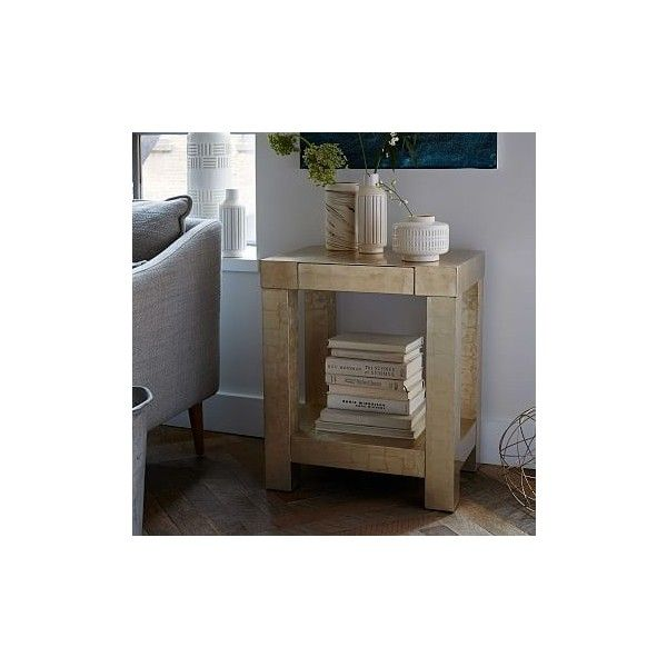 West Elm Parsons End Table Champagne Liked On Polyvore - West elm parsons end table