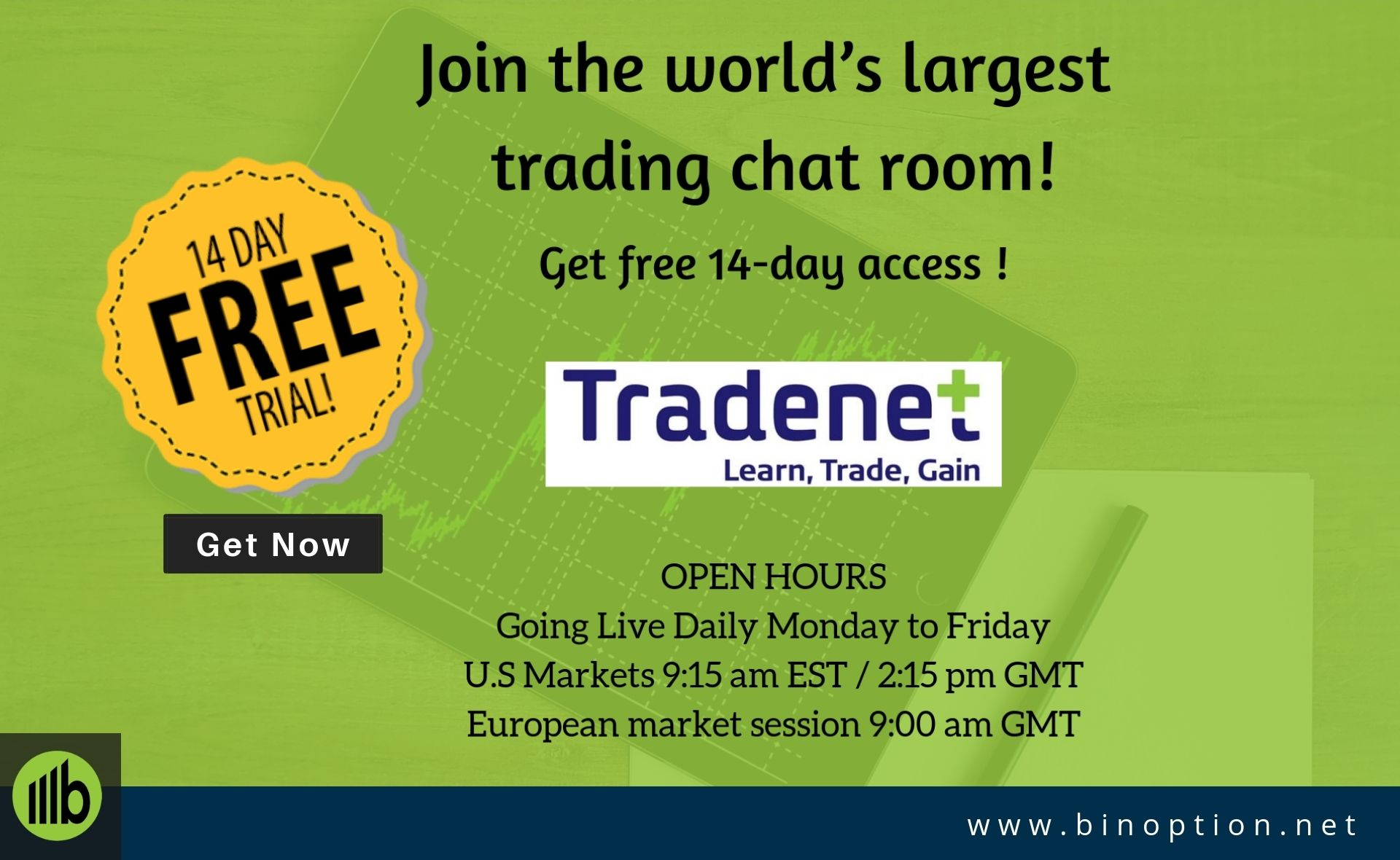 Tradenet Free Course Enjoy Day Trading With 14 Days Trial Day