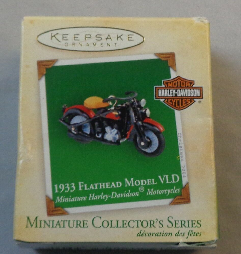 Hallmark 2004 1933 Flathead Model VLD Mini Harley Davidson ...