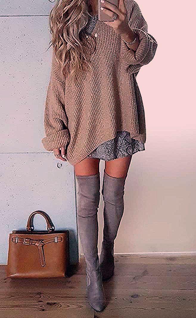 Photo of meilleure tenue d'automne avec un pull oversize pour tout le monde