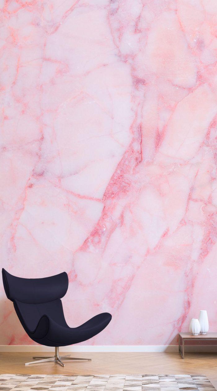 Best Baby Pink Cracked Marble Wallpaper Mural Muralswallpaper 400 x 300