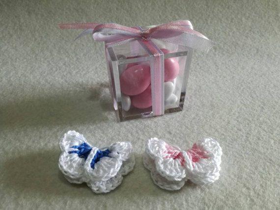 Guarda questo articolo nel mio negozio Etsy https://www.etsy.com/it/listing/513527445/set-da-10-bomboniere-uncinetto-farfalla