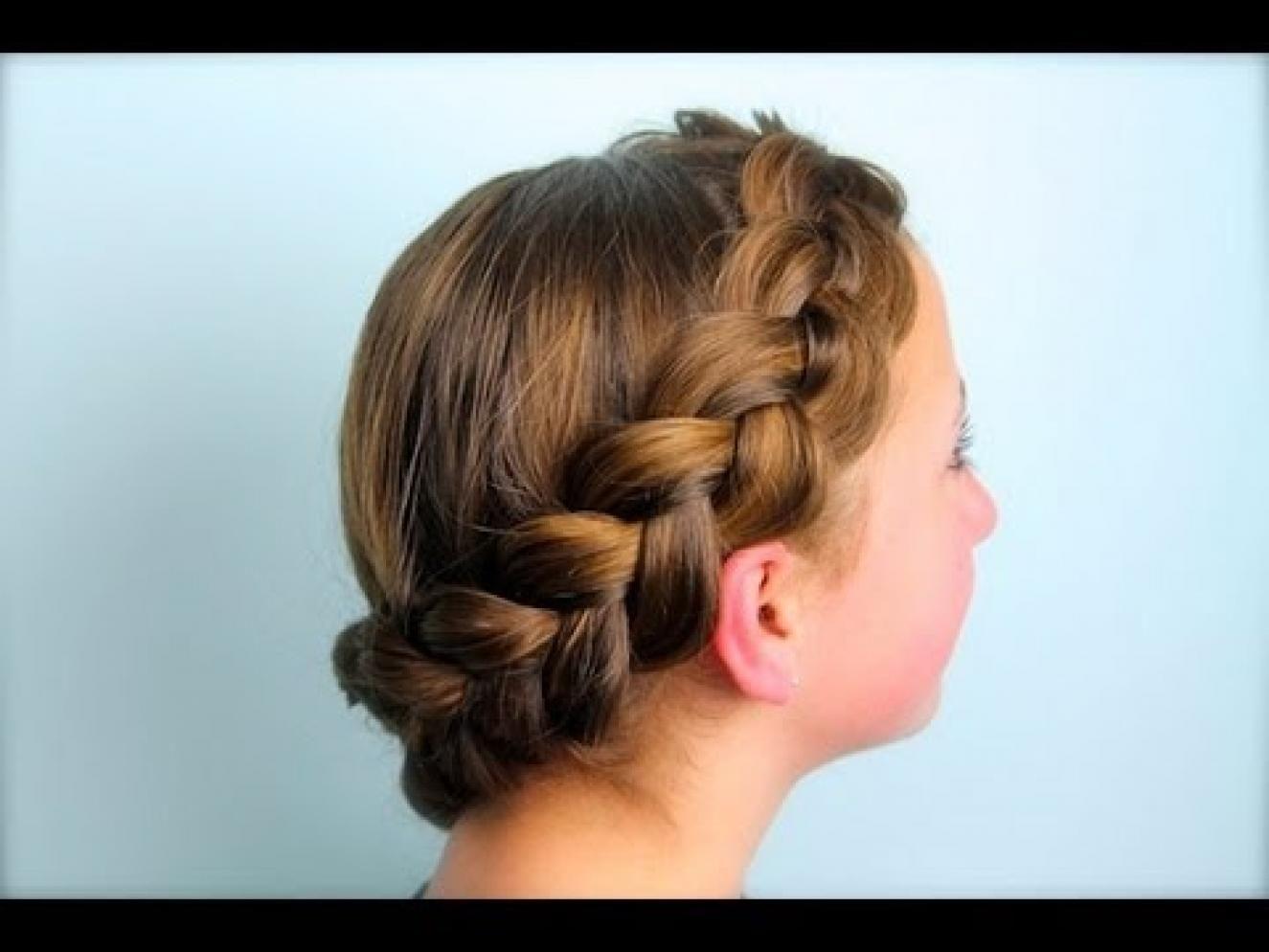 Unique Hair Styles: Wrap-Around Dutch Pancake Braid