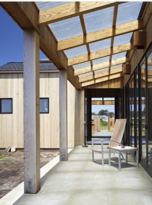 Corrugated Roof Covered Patio Design Rustic Patio Pergola