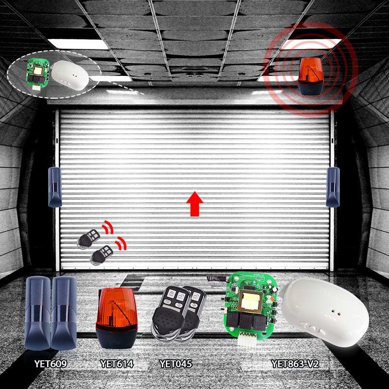 Fire Alarm Infrared Flash Yet614 Led Warning Lights Smart Home Alarm System Home Security Systems Burglar Alarm