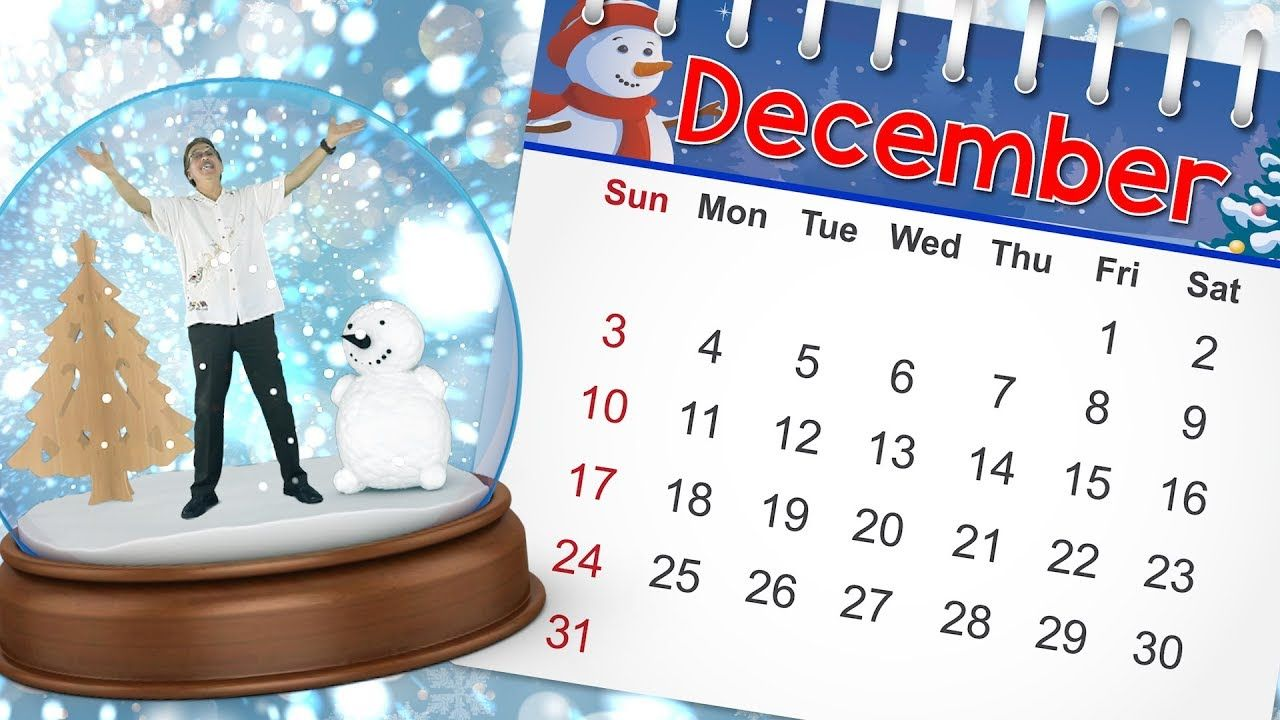 December | Calendar Song for Kids | Month of the Year Song
