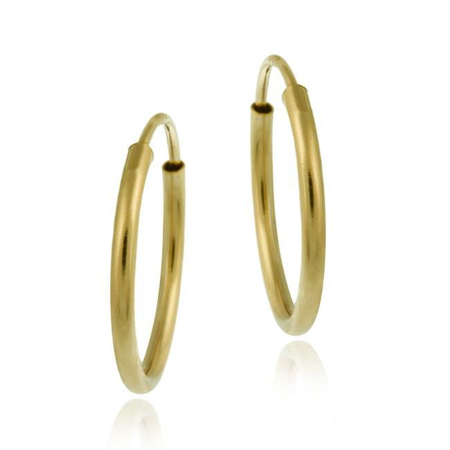 These 10 Karat Gold Endless Hoop Earrings Will Add Subtle