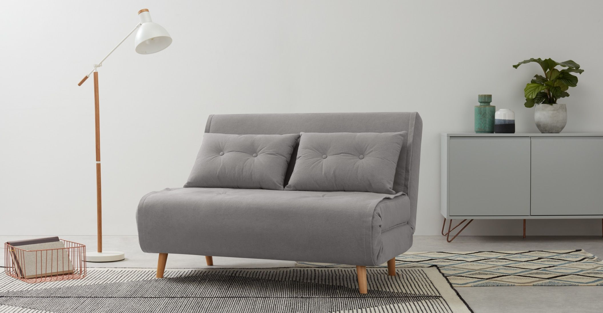 Haru Small Sofa bed, Marshmallow Grey in 2020 Most