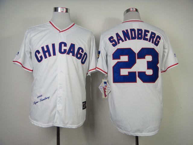 size 40 faddc 2fae6 chicago cubs 23 ryne sandberg 1988 white throwback jersey