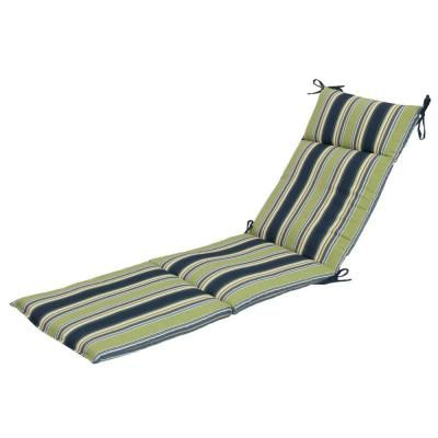 Hampton Bay Burkester Stripe Outdoor Chaise Lounge Cushion The