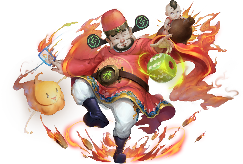 No.1209 時來運到 ‧ 福神 Luck Is My Friend - Spirit of Fortune #神魔之塔 #神魔_大富翁神明 | Anime, Mario characters, Character