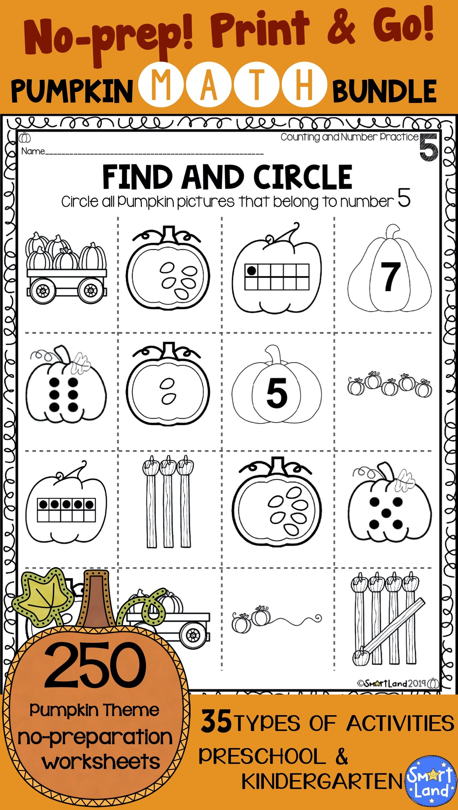 Math Worksheets Complete Number Practice Set Of