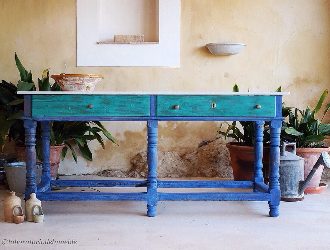 Mix Of Florence Napoleonic Blue And Greek Blue On Gorgeous  # Muebles Dous Murcia