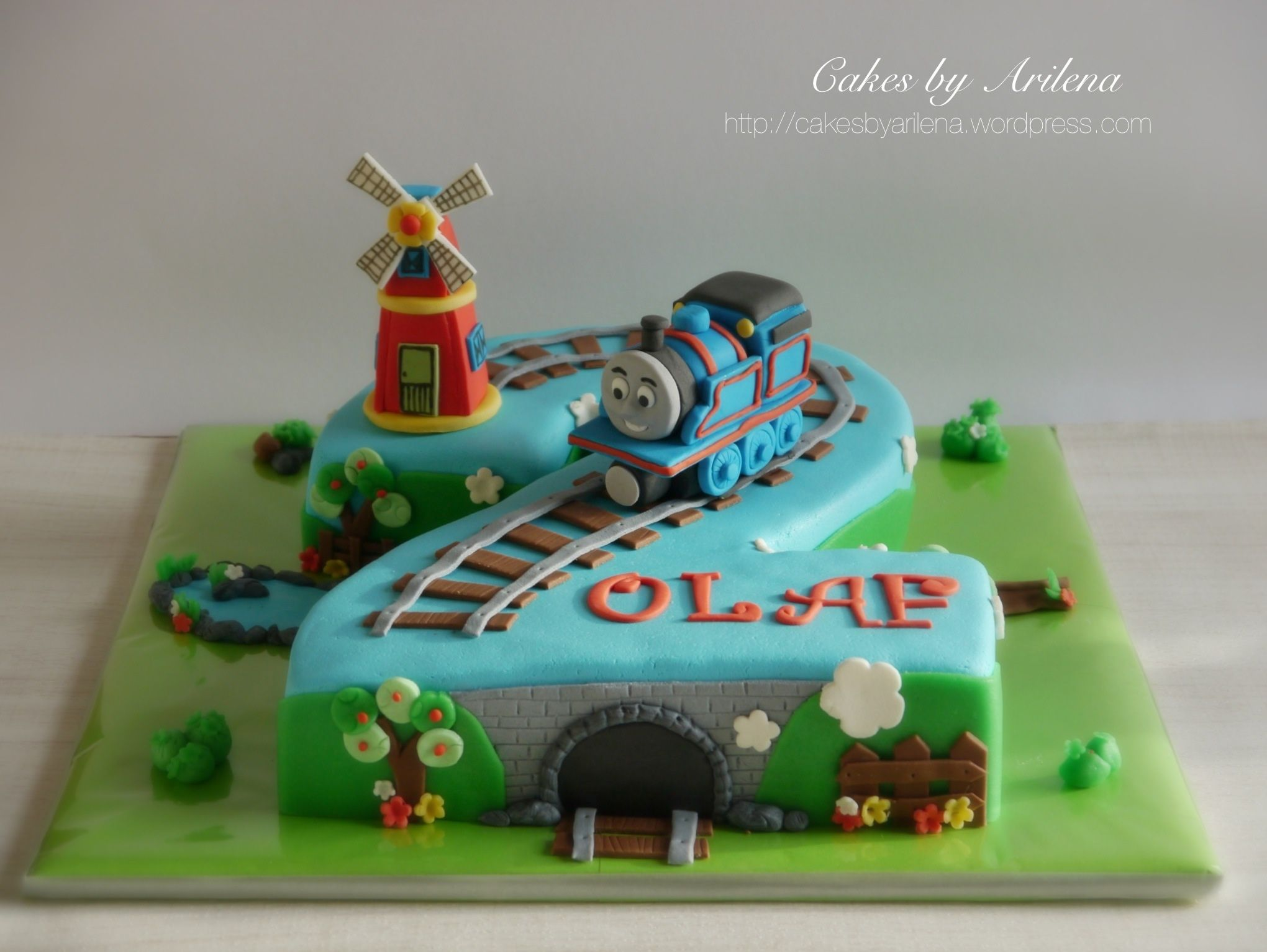 Geburtstag Kuchen Thomas The Train And Windmill Cake Cakes And More
