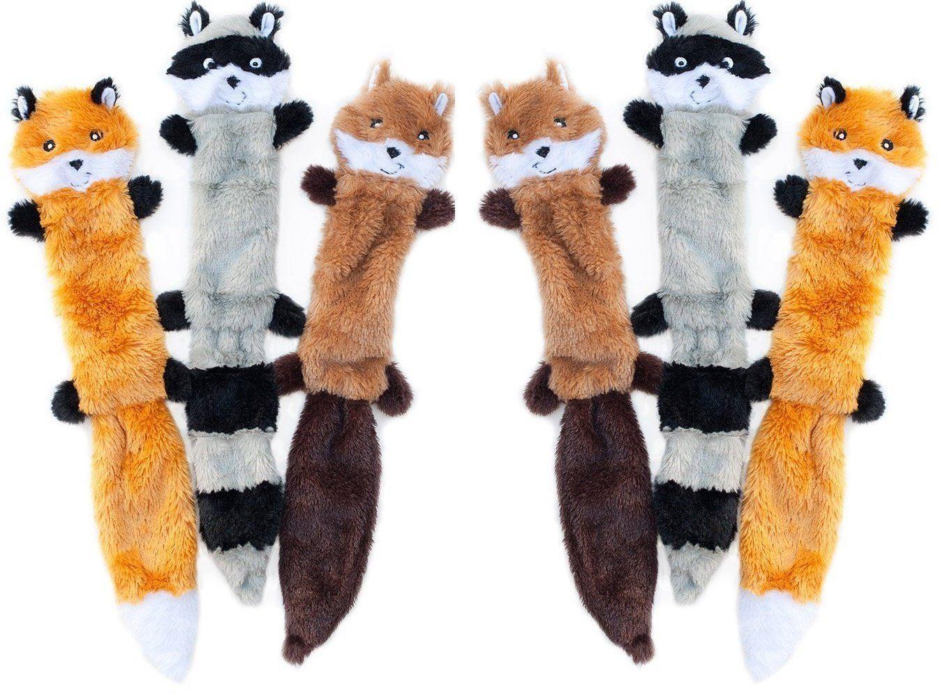 Zippypaws Skinny Peltz No Stuffing Squeaky Plush Dog Toy Large 6