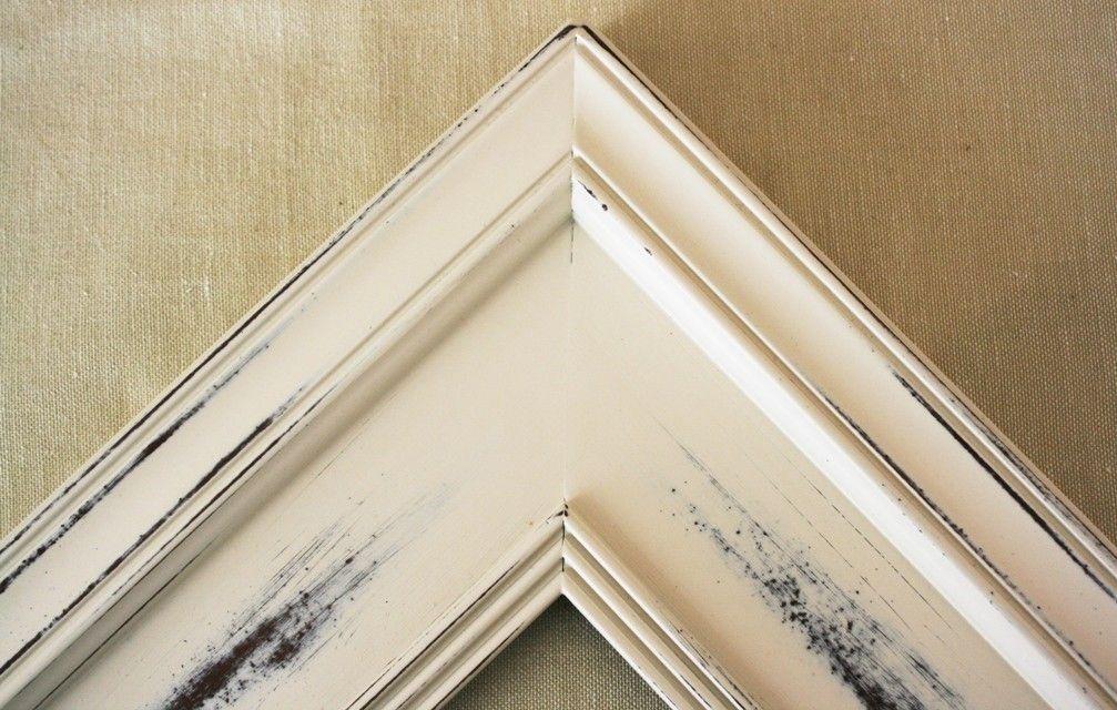 20x24 Picture Frame / Vintage White on Plein Air 20x30