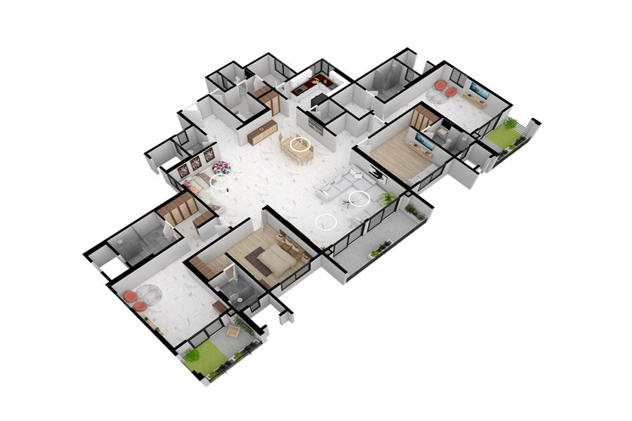 Residential 3d Floorplan Interior Design Renderings Floor Plans 3d Interior Design