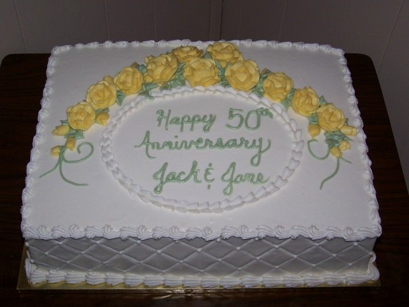 Design Of Cake For Anniversary : anniversary cakes/buttercream This cake is iced and ...