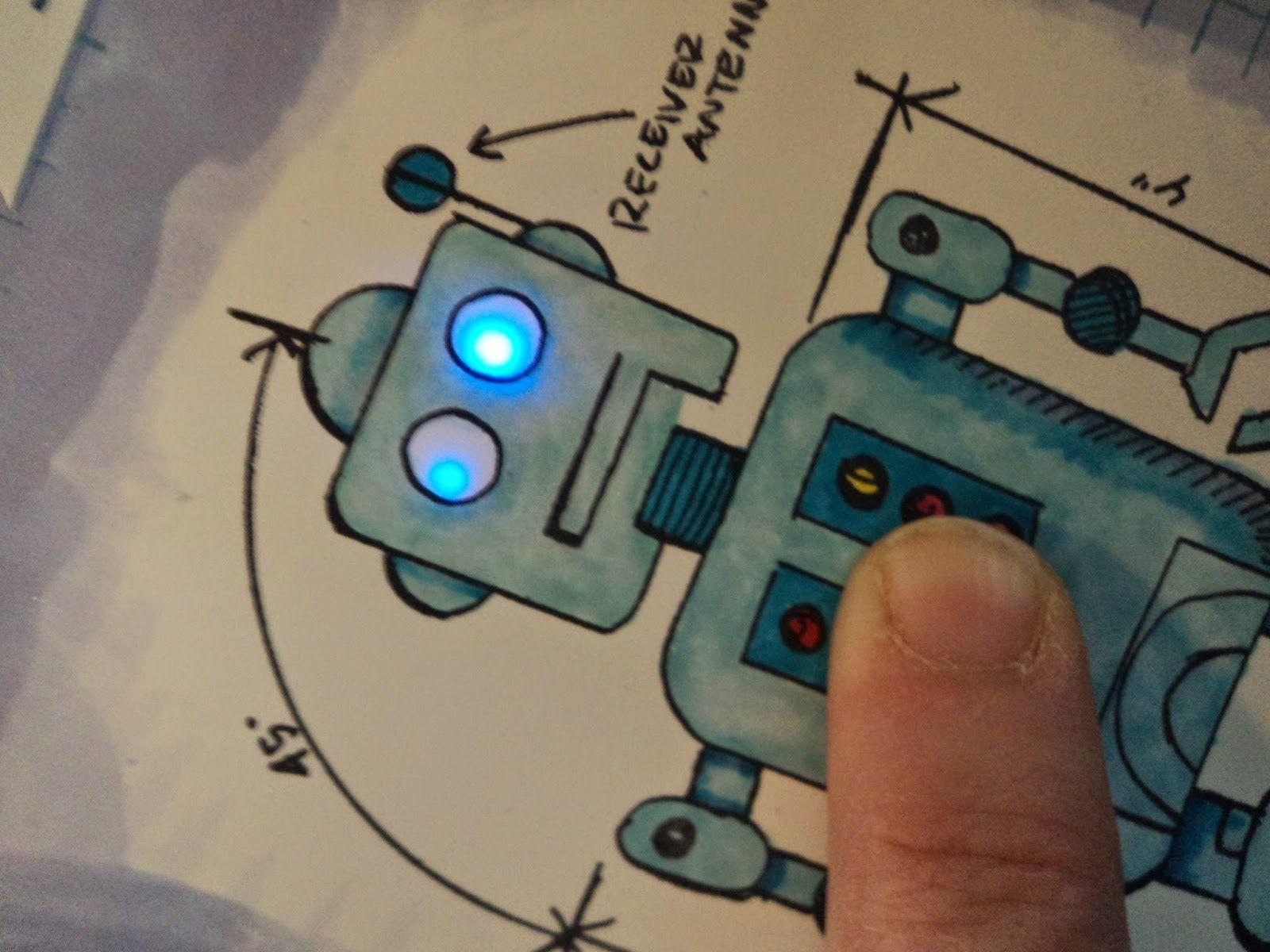 Light Up Diy Chibitronics Robot Birthday Card Tutorial