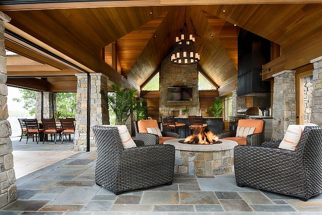 Pool House Indoor Outdoor Area Pool House Pool House Outdoor Kitchen Pool House Outdoor Fireplace Poolhouse Indoor House Design Outdoor Design Pool House