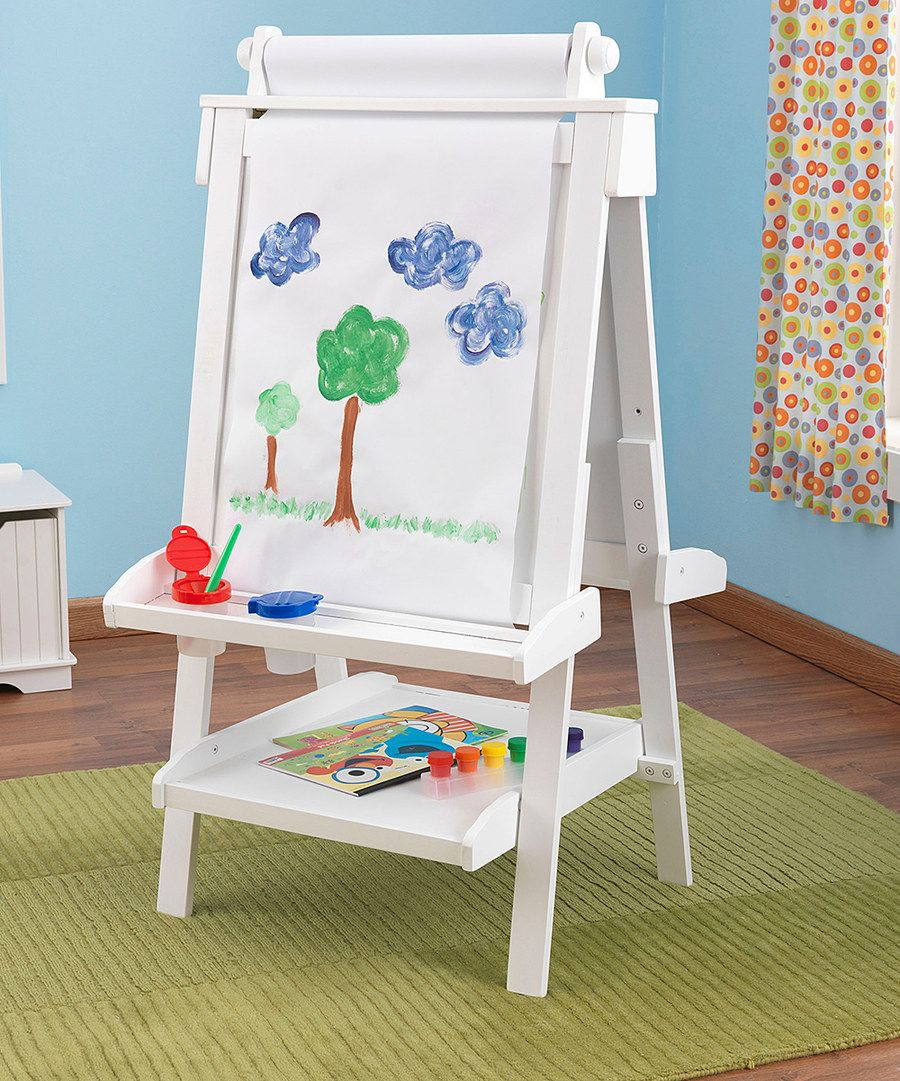 Look at this kidkraft white deluxe wood easel set on zulily today