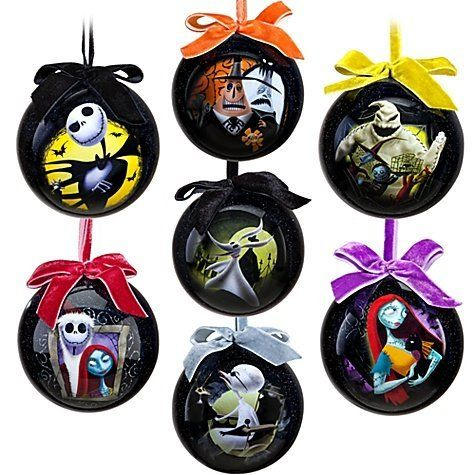 08466d2175838 Tim Burton s The Nightmare Before Christmas Ornament Set -- 7-Pc. Set-