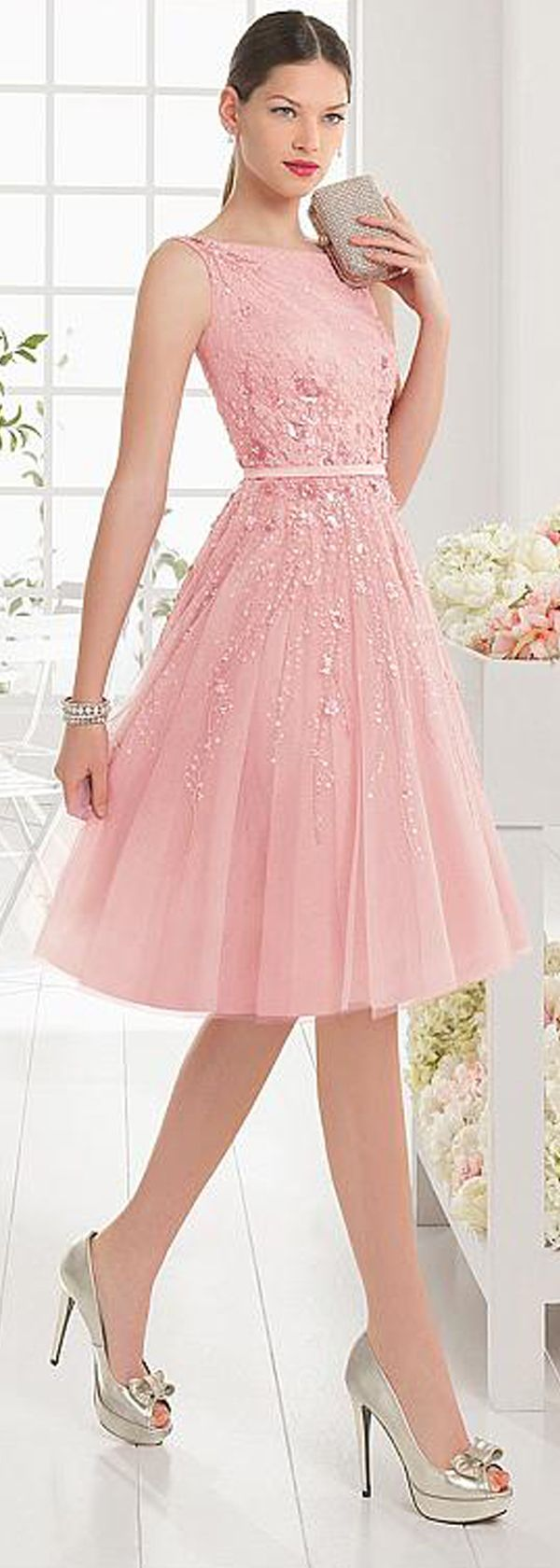 Energetic Tulle & Satin Bateau Neckline A-Line Cocktail Dresses With ...