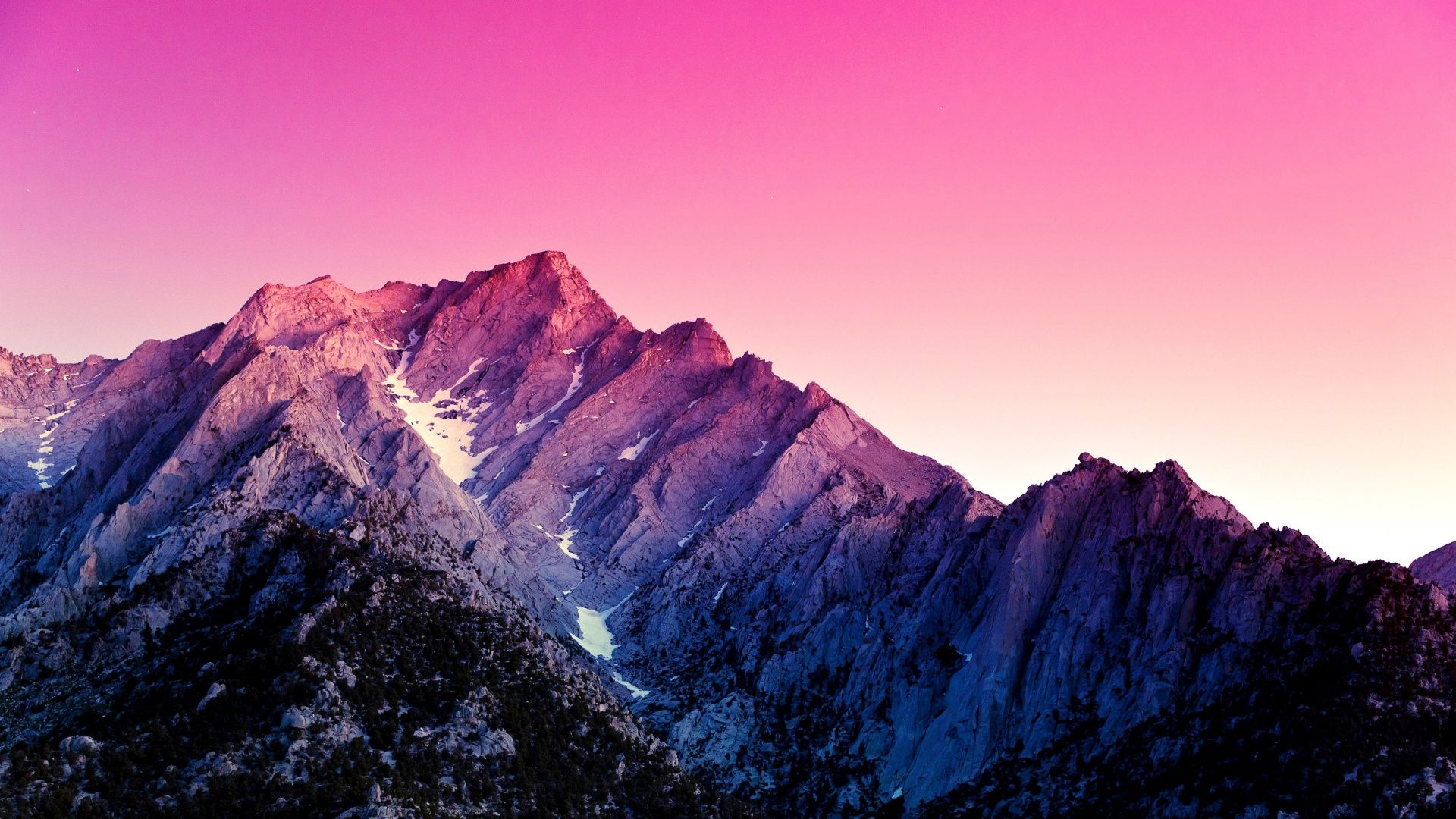 Pink Mountains 1920x1080 Wallpapers In 2019 Mountain