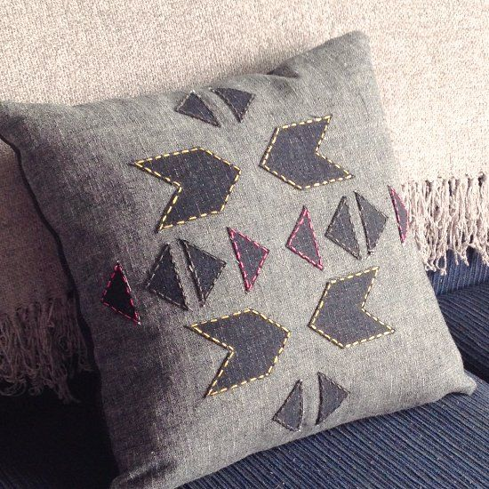 Add a little Aztec inspiration to your home with this easy cushion cover project.