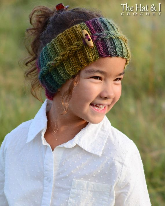 CROCHET patrones otoño brisa Headwrap ganchillo por TheHatandI ...