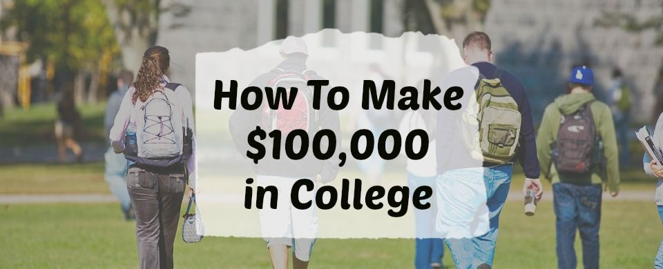 These two college students prove that you can make good money in college since they both make over 100000 per year while working as students in college