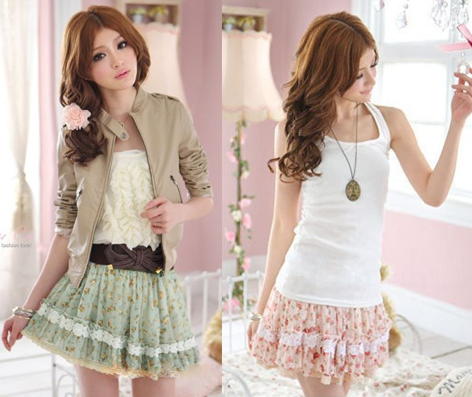Details about Hot Korea Girls Sexy Sweet Lace Floral Mini Skirt ...