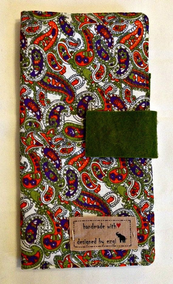 Paisley Design Women's Handmade Fabric Wallet by designedbyEzgi