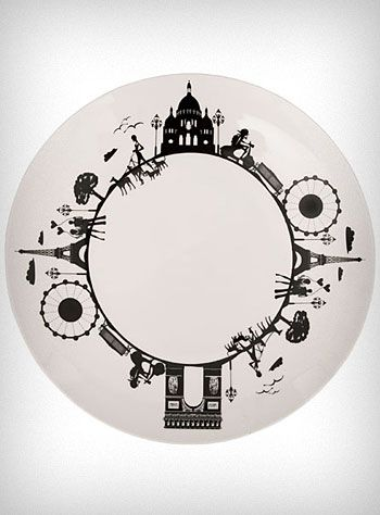 A Day In Paris Ceramic Dinner Plate | PLASTICLAND - StyleSays