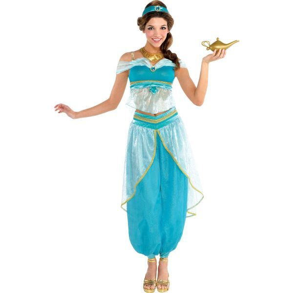 Womenu0027s Couture Jasmine Costume features premium fabrics with faux gems and includes a gold genie l&.  sc 1 st  Pinterest & Adult Jasmine Costume Couture   Halloween Costumes   Pinterest ...