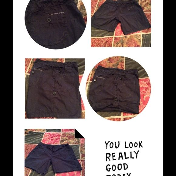 Calvin Klein a Convertible Shorts Black convertible length shorts Calvin Klein Shorts