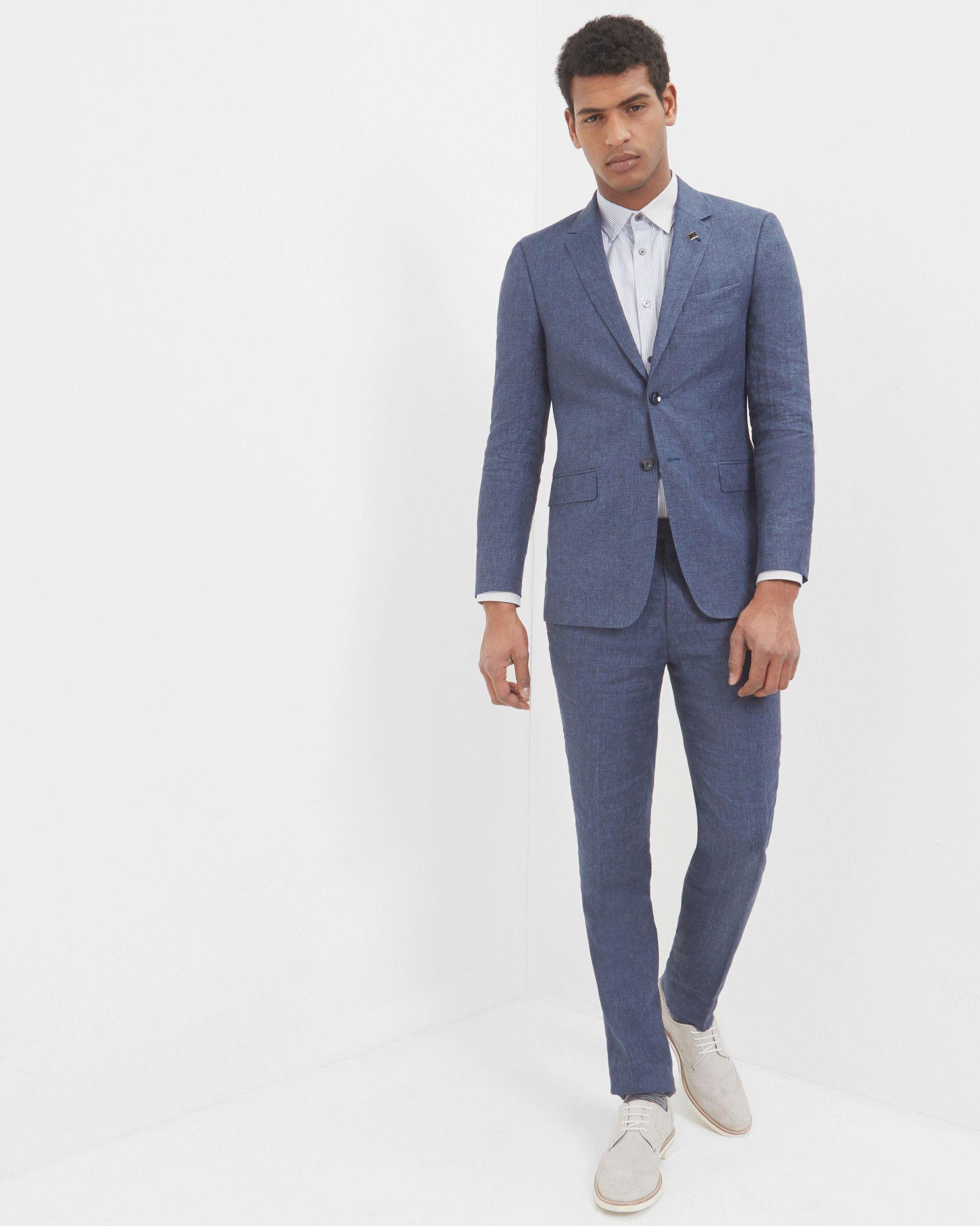 6e588d102869 Debonair linen jacket - Light Blue