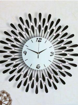 ajanta orpat designer fancy beautiful white and black wall clock - Designer Large Wall Clocks