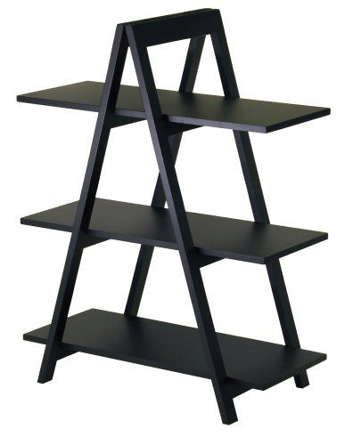 Atticus Bookcase This Would Be So Easy To Make Two Rectangles With Interior Cross Bars Hinged At The Topplus 3 Shelves Winsome Wood