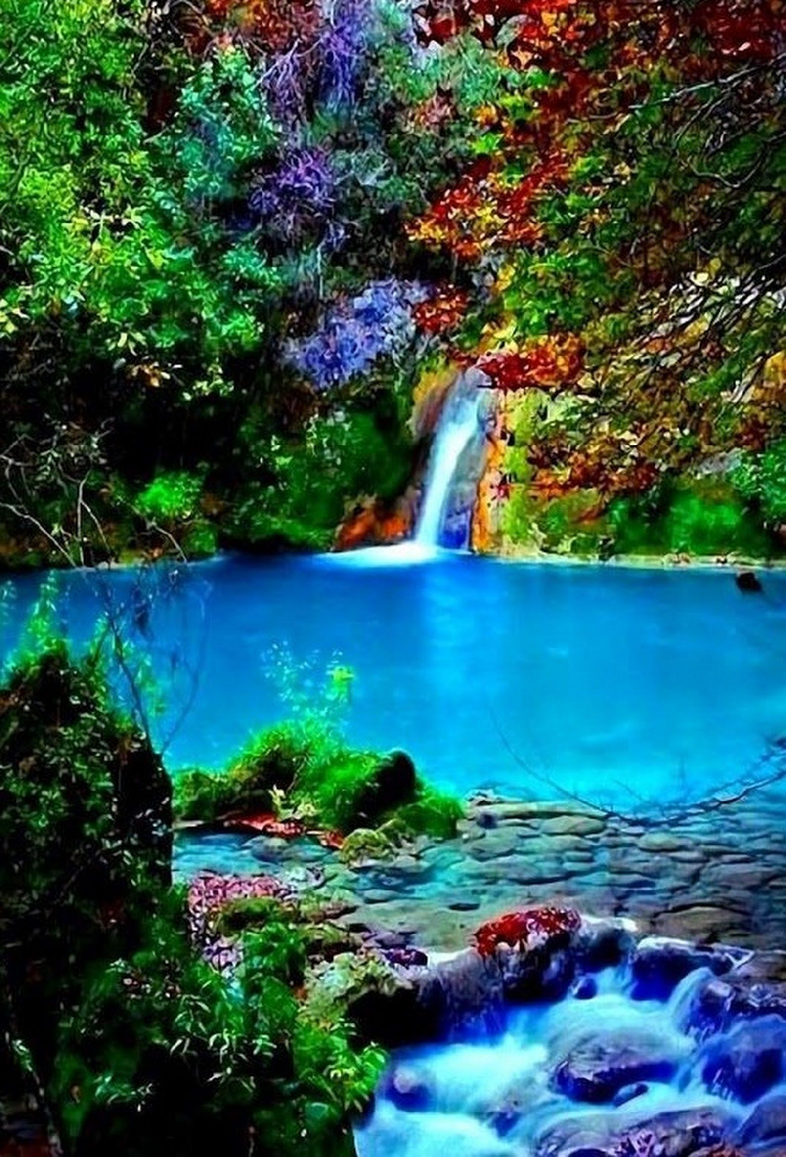 Magical Waterfall In Nature Love Waterfallslove Wonders Of The World Waterfall Places To Travel